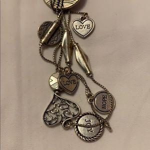 Joy-love-hope long necklace (lia Sophia)